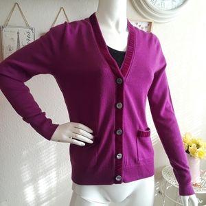 J. Crew Purple -Pink Sweater/Cardigan Small